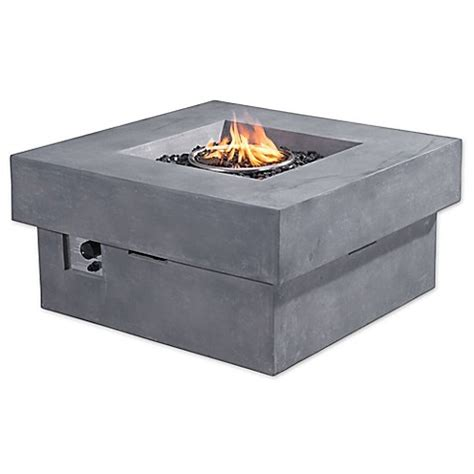 fire pit bed bath and beyond zuo 174 diablo propane fire pit in grey bed bath beyond