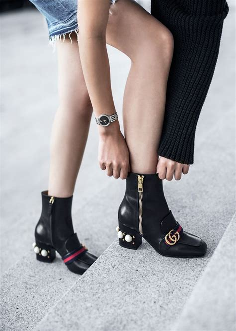 Sandal Gucci Casual Web Gg Apricot Semi Premium 989 16 gucci peyton pearly heel ankle boot the best of shoe in 2017 shoes fashion trends