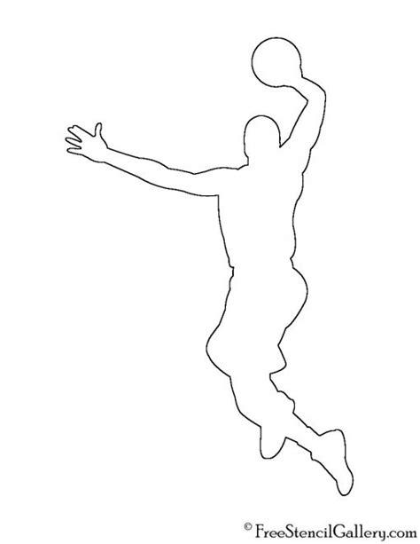 basketball player silhouette stencil  stencil gallery