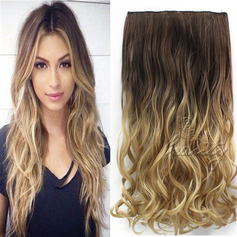 5 hair extensions 24 quot 60cm wavy curly extension 5 clip de cheveux ombre