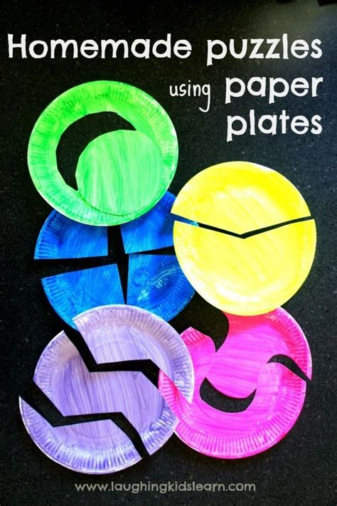 using paper plates puzzles for toddlers using paper plates pumpkin