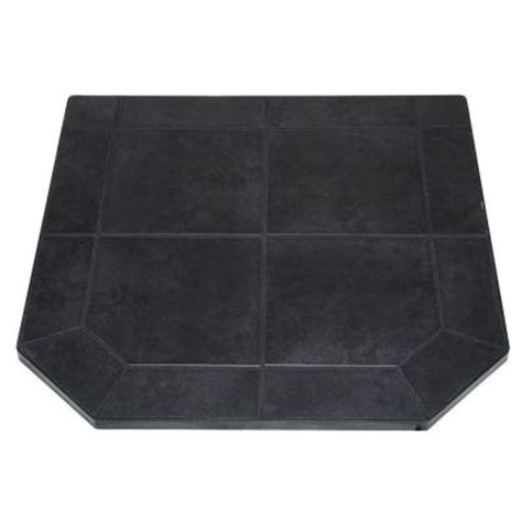 fireplace hearth pads us stove american classics 40 in type 1 black tile