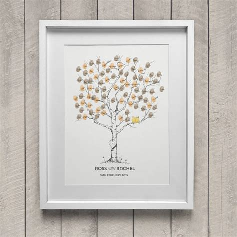 Wedding Album Not On The High by Birch Wedding Fingerprint Tree Guest Book By New Forest