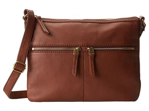 Fossil Erin 2zip Brown fossil erin crossbody brown 1 shipped free at zappos