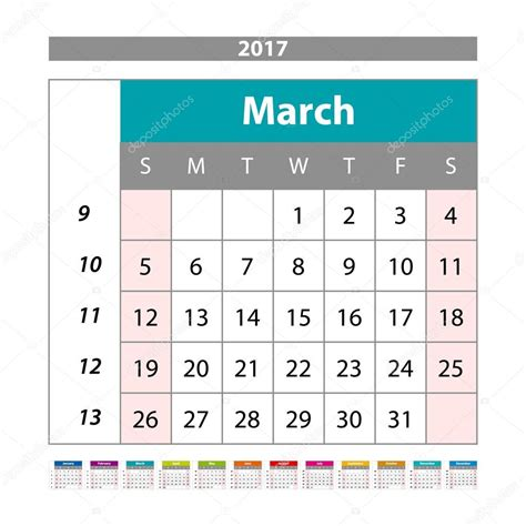 Calendario Digital 2017 Simple Calendario Digital Para Marzo De 2017 Calendario