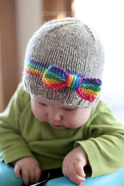 knitting pattern for baby hat rainbow baby hat knitting pattern little red window