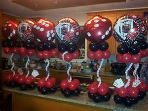 casino themed balloon centerpieces by rosielloons like on