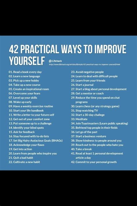 42 Practical Ways To Improve Yourself Pictures Photos And Images For 42 Practical Ways To Improve Yourself Valued Success