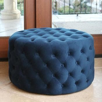 round velvet tufted ottoman safavieh florence tufted round nailhead trim light blue