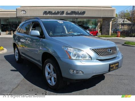 lexus rx blue 2007 lexus rx 350 awd in breakwater blue metallic 032302