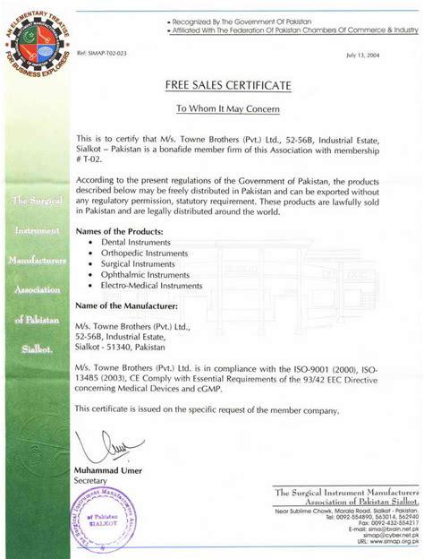 free sale certificate template sales certificate format webdesignlondon co