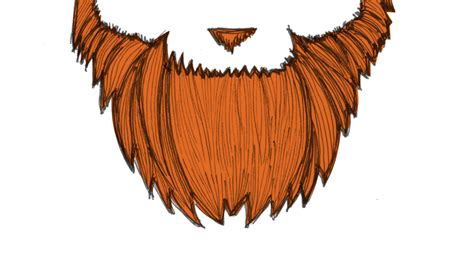 beard clipart red beard pencil and in color beard