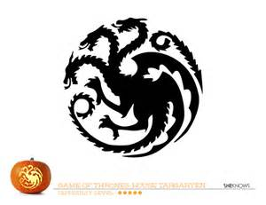 game thrones house targaryen pumpkin carving template free printable coloring pages