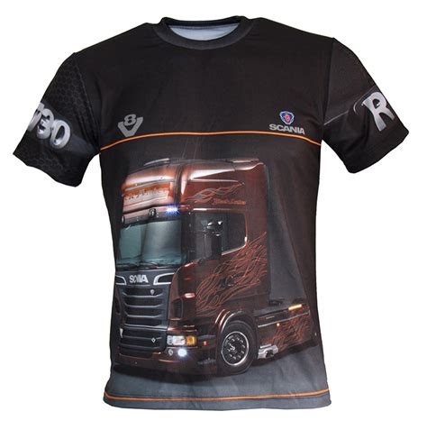 scania r730 t shirt with logo and all printed picture