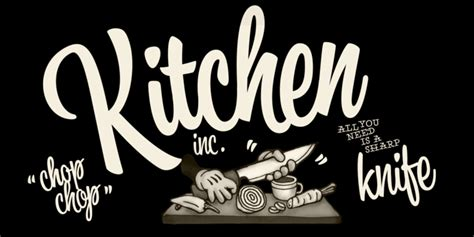 Kitchen Font by Kitchen Font By Fenotype What The Fonts