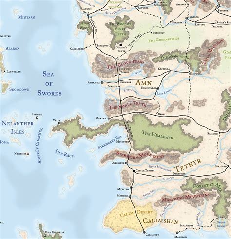 map   faerun dungeons  dragons ft critical role