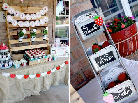 Kara's Party Ideas Strawberries And Cream Ice Cream