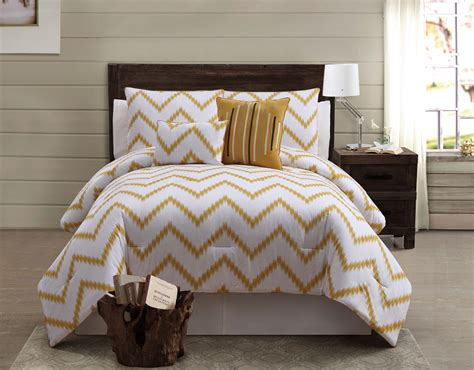 zigfield 5 piece 100 cotton comforter set gold