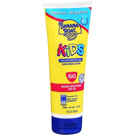 banana boat icon banana boat kids sunscreen lotion spf 50 fragrance free