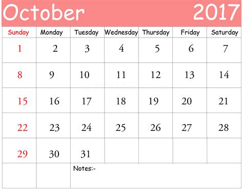october 2017 printable calendar templates printable