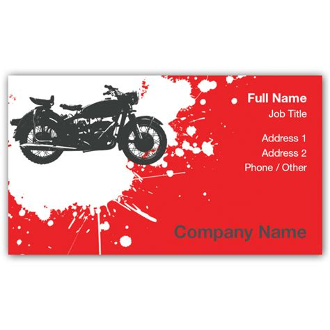 business card motorcycle templates promotional products business cards more iprint