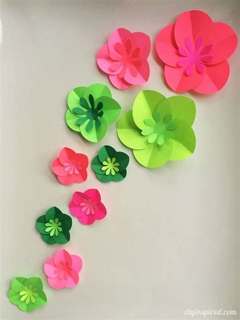 Floral Craft Paper - 12 step by step diy papers made flower craft ideas for