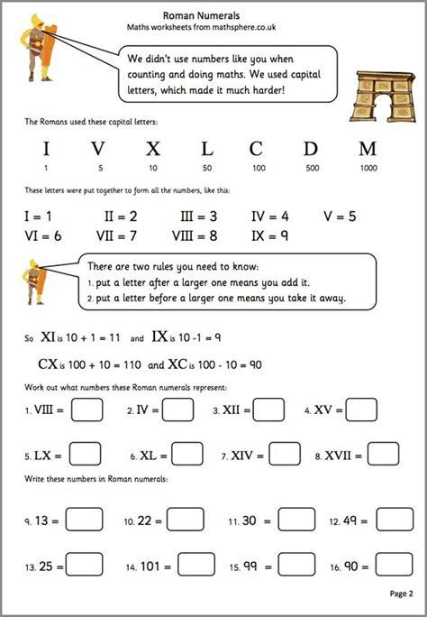printable math worksheets roman numerals 11 best roman numerals images on pinterest roman