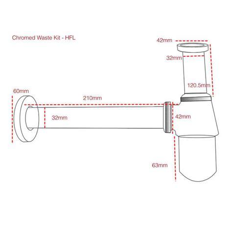 sink p trap kit 50 chrome sink basin waste pipe bottle trap p