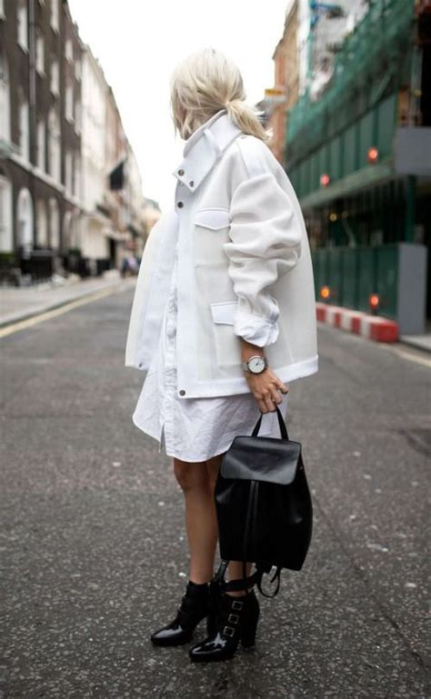 Compare Contrast Wearing A Winter White Coat by Picture Of A White Shirt Dress A White Coat And Black