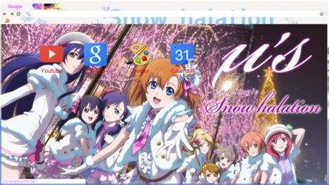 google chrome themes love live love live school idol project google chrome theme chrome