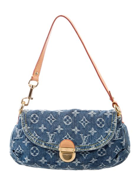louis vuitton monogram denim mini pleaty bag handbags