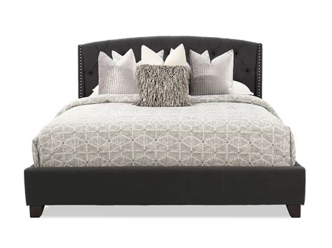 ashley furniture tufted bed ashley kasidon dark gray tufted bed mathis brothers