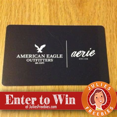 Gift Card American Eagle - american eagle gift card quikly giveaway julie s freebies