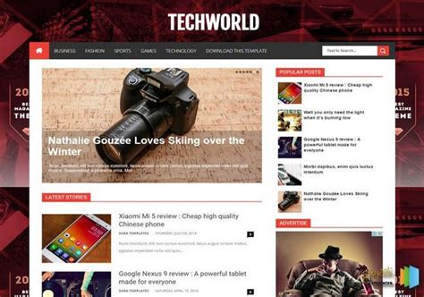 free html blog templates code techworld template templates 2018