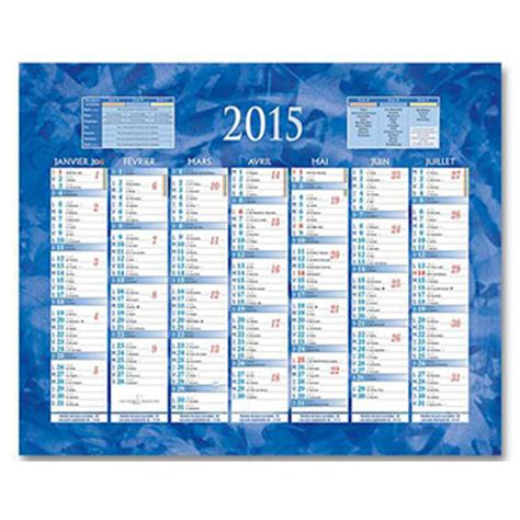 Calendrier X 2015 Calendrier De Banque 2015 2 Faces 21 X 26 5 Cm