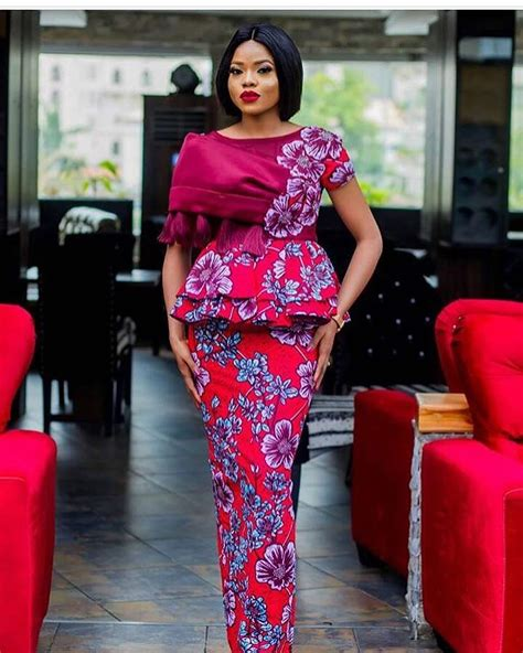 ankara new gown style look fabulous in this 2018 peplum gown style for wedding