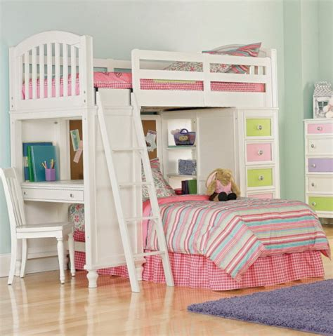 bunk beds for girls with desk bunk bed desk for girls home design ideas