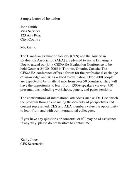 Letter For Visa To Embassy invitation letter canada pdf letters free sle letters