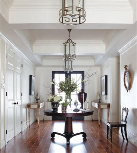 circular entryway foyer entry with round table it s on my dream list