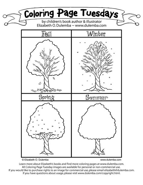 free coloring pages of seasons of the year