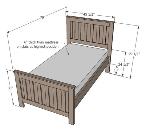 measurements of twin bed 25 best ideas about 2x4 furniture on pinterest benches