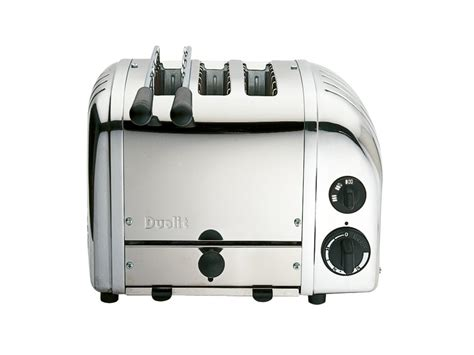 Dualit Bun Toaster Polished 2 1 Combi Toaster 3 Slot Sandwich Toaster With