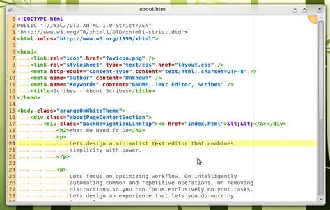 minimalist text editor scribes powerful yet minimal text editor omg ubuntu