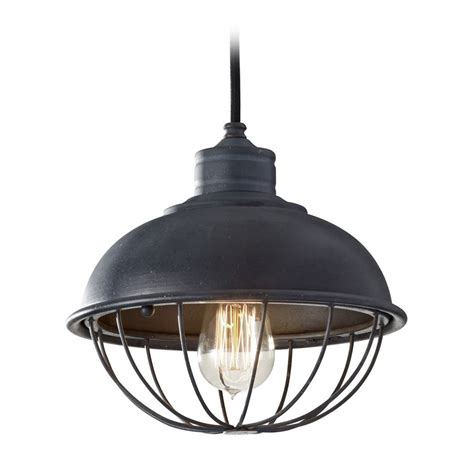 Cage Pendant Light Retro Style Mini Pendant Light With Bulb Cage Shade P1242af Destination Lighting