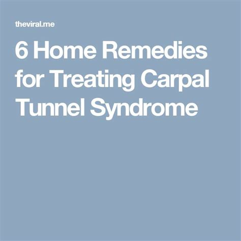 17 best ideas about carpal tunnel relief on