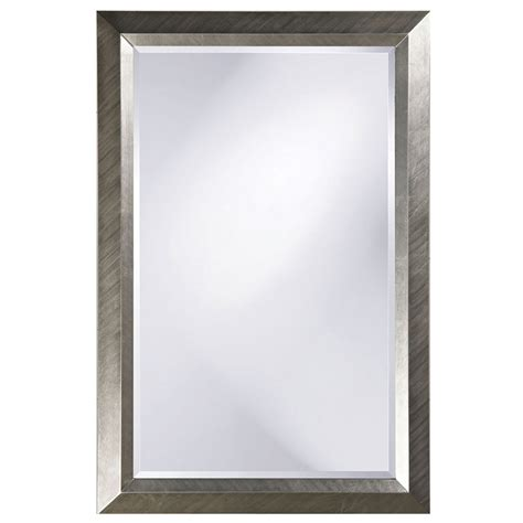 silver bathroom mirror rectangular avery silver 2 inch large rectangle mirror howard elliott