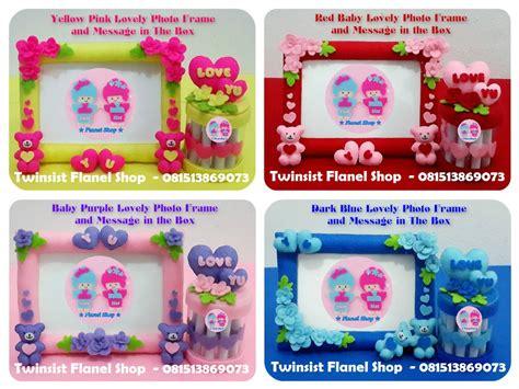 Flanel Biru Manis Set jual kado anniversary unik romantis manis lovely frame foto dan box pesan twinsist flanel