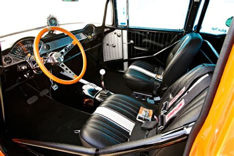 Gasser Interior by A 10 Second 1955 Chevy Gasser Is As Cool As