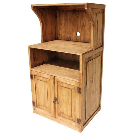 Rustic Pine Collection   Microwave Stand   COM36