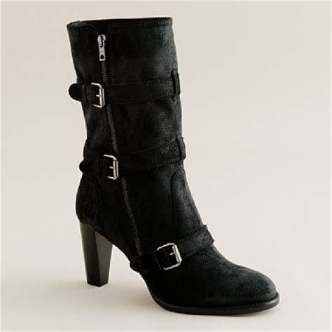 high heel motorcycle boots look linger love the j crew shoe of the month club